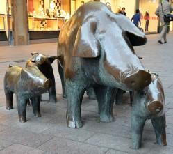 So eine Schweinerei in der Innenstadt